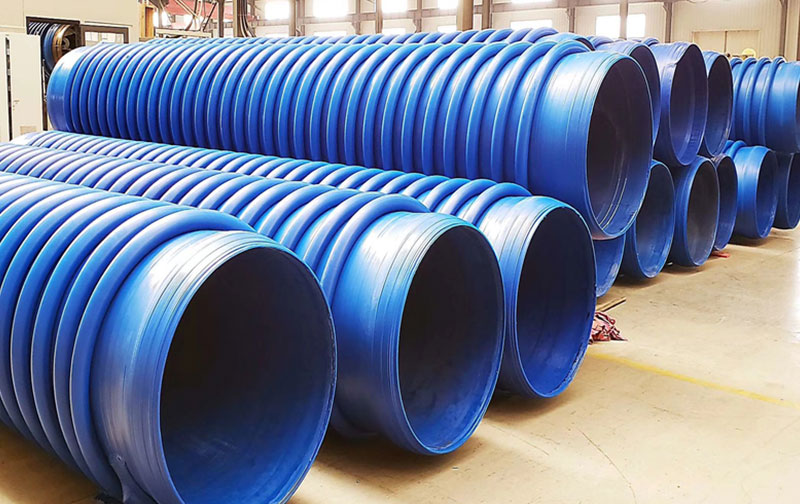 Corrugated Firber Reinforced HDPE Pipe